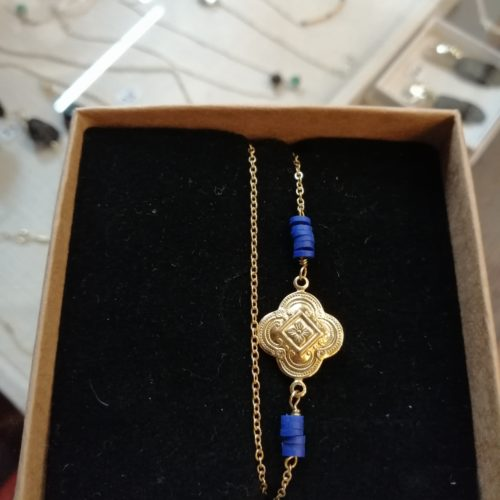 Bracelets inspiré de l'époque Napoléon III, réalisé sur du laiton et plaqué or mat.