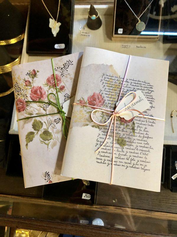 carnet imprimé fleurs